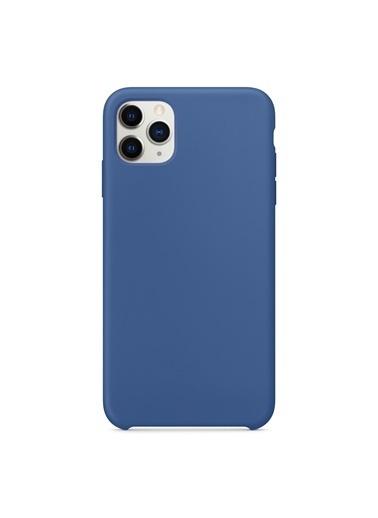 Bludfire Apple iPhone 11 Pro Max (6.5'') Kılıf Liquid Lansman Silikon Çini Mavisi Mavi